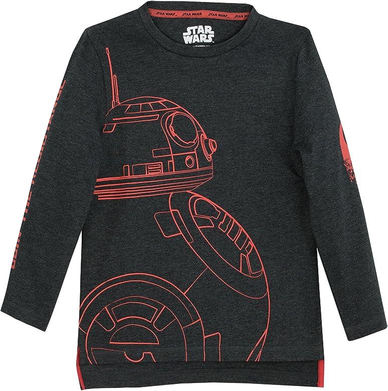 Star Wars - Camiseta de Mangas largas para niño BB8-9 - 10 Años: Amazon.es: Ropa y accesorios