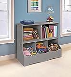 Multi-Bin Storage Organization 2 Shelf and 3 Bin