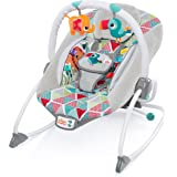 mit 3/h/ängenden Spielzeugen Liegestuhl mit Musik und beruhigenden Vibrationen Just4baby Babywippe Design Dinosaurier