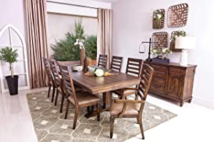 Coaster Home Furnishings Delphine Rectangle Extension Leaf Vintage Dark Pine Dining Table
