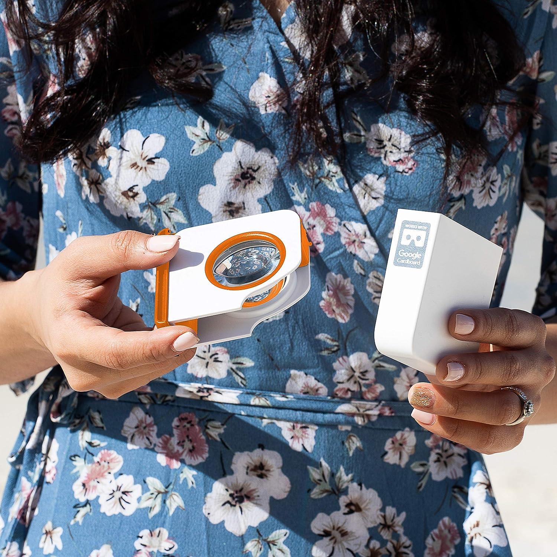Yellow I AM Cardboard Visore VR smartphone Pocket 360 Mini VR Headsets  Accessori Cellulare per Regali Originali I Migliori Dispositivi Realt/à Virtuale Ispirati al Cardboard Google V2