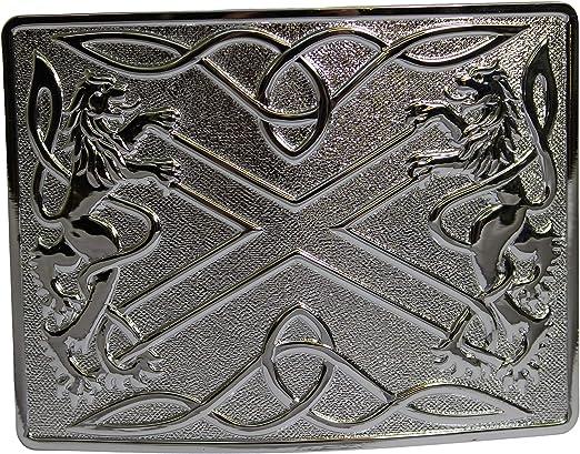 De esmalte negro con diseño escocés Highland diseño de madera ...