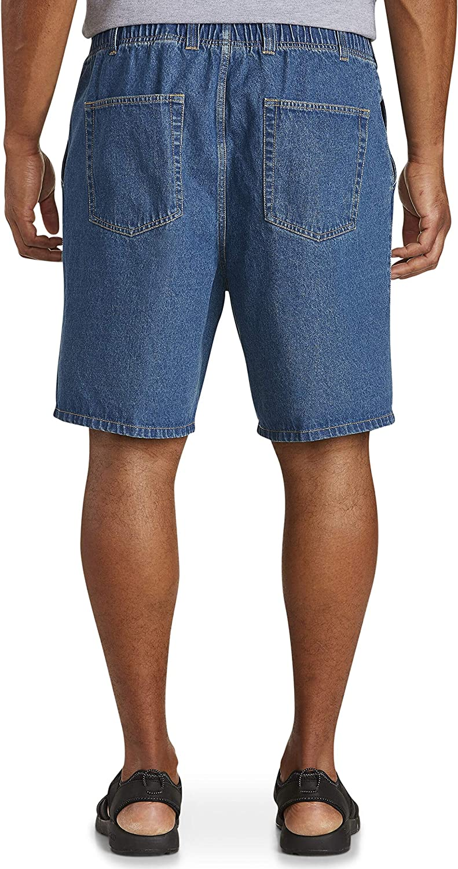 Harbor Bay by DXL Big and Tall Denim Shorts Light Stonewash