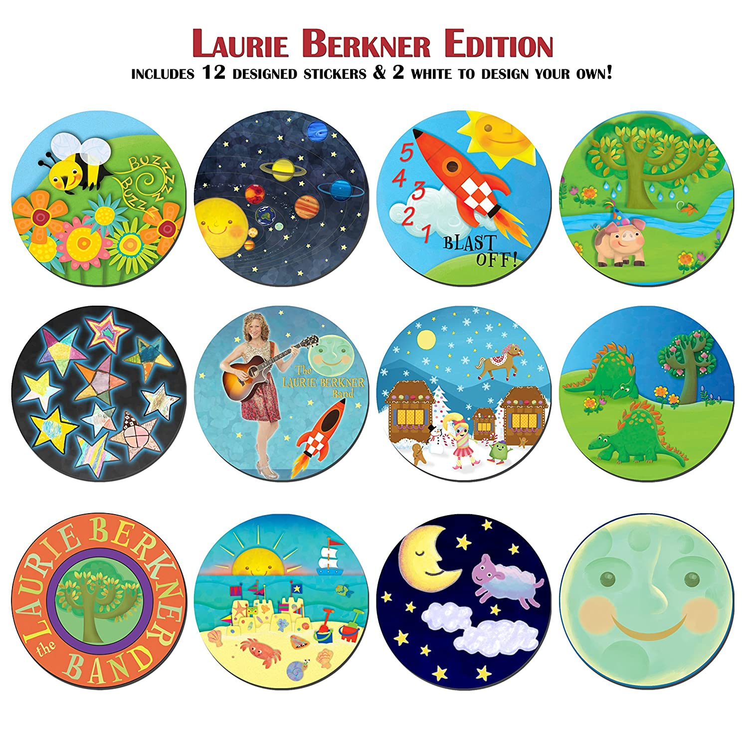 Amazon.com: KidSwitch Lightswitch Extension For Toddlers   Laurie Berkner  Edition   3 PACK   Includes 12 Themed Art Decals: Baby
