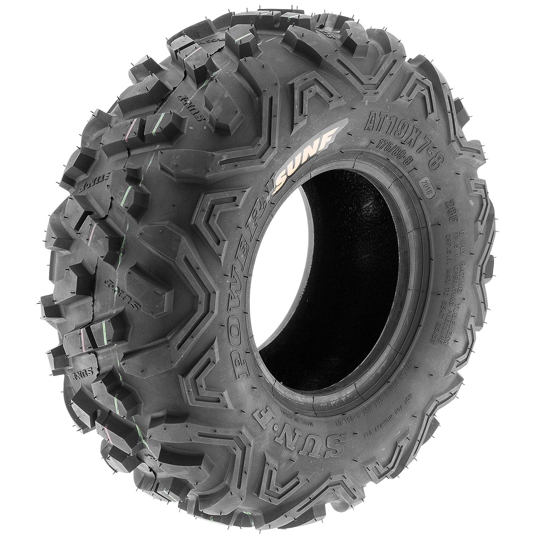 II ATV Go-Kart Tires 145/70-6 (14x6-6) Front & 19x7-8 Rear, All-Terrain Off Road, 6 PR, A051: Automotive