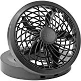 """O2 Cool 1123 Folding Portable USB or Electric Fan, 5"""", 1 Speed (Assorted color)"""