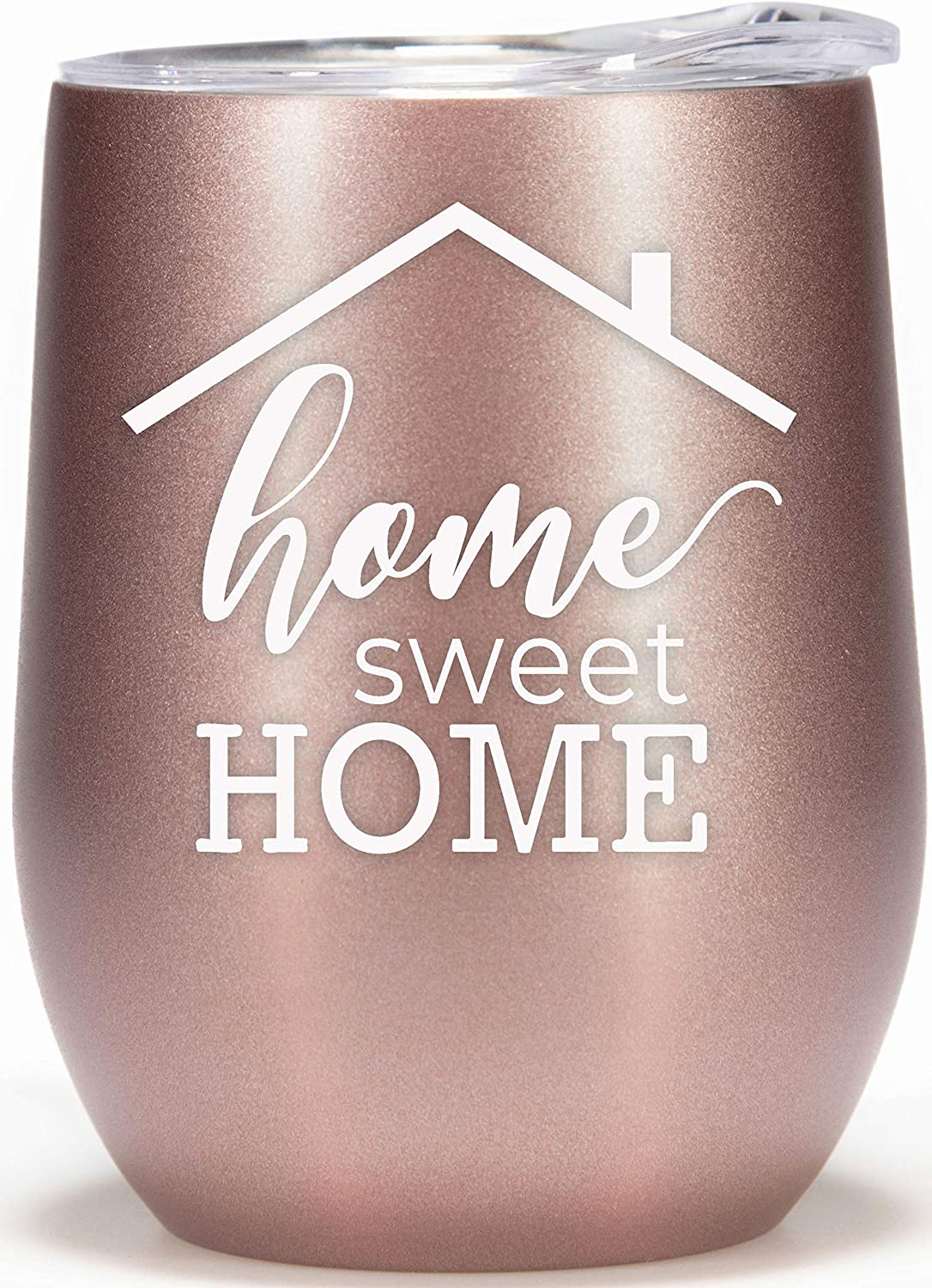 Housewarming Gifts for Women Beautiful First Time Homeowner Gift for New House Owner 12oz Wine Glass Tumbler Welcome Home