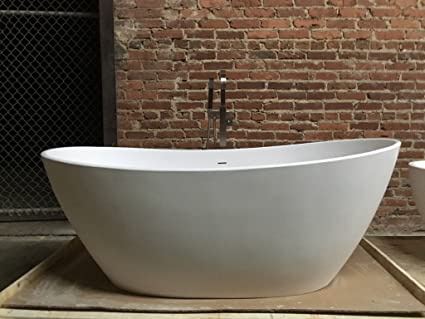 Stone Resin Solid Surface Freestanding Bathtub Matte White ...