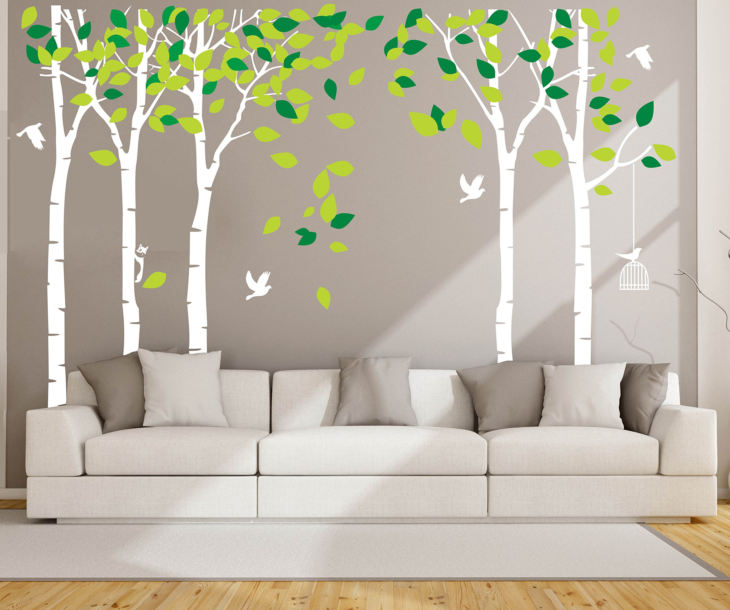 ANBER Giant Jungle Tree Wall Decal Removable Vinyl Sticker Mural Art Bedroom Nursery Baby Kids Rooms Wall Décor by ANBER