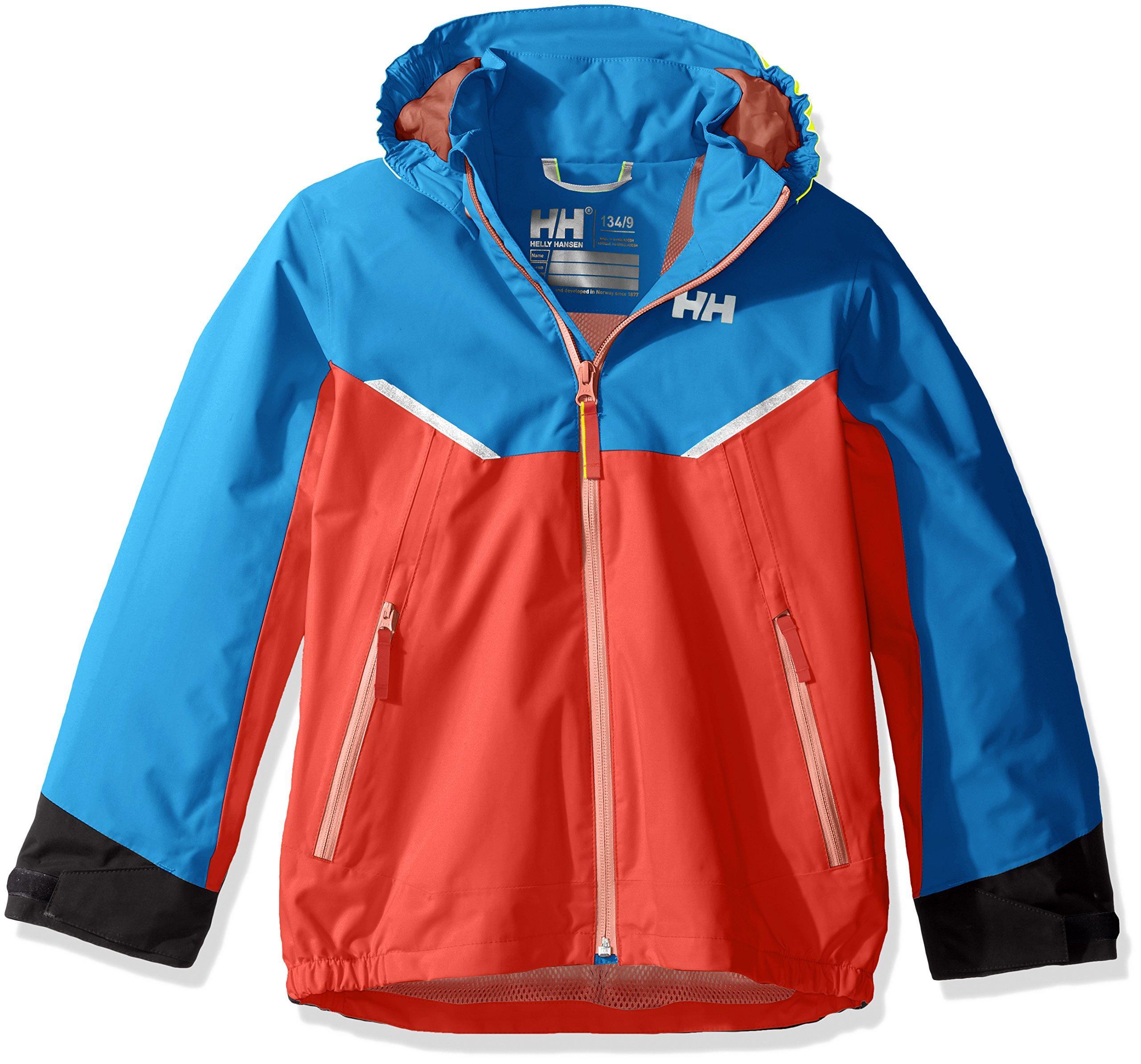 Helly Hansen Kids Shelter Waterproof Rain Jacket Coat, 102 Cayenne, Size 7