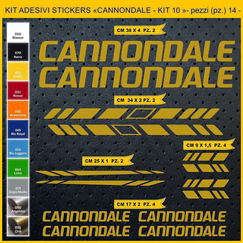 Bike Cycle Cod Kit Pegatinas Stickers Bicicleta Cannondale 0923 Kit 10-14 Piezas