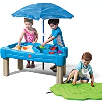 Step2 Cascading Cove Sand and Water Table (Umbrella and 6-Piece Accessory Set Included)