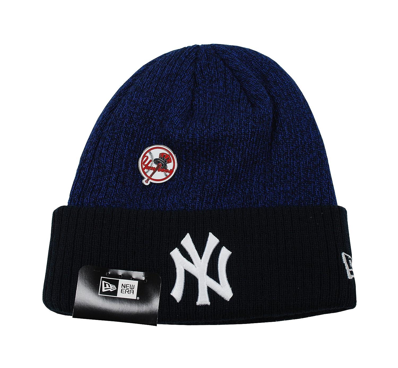 New Era Hat New York Yankees Pin MLB Knit Dark Royal Blue Beanie Cap at  Amazon Men s Clothing store  6619779c6