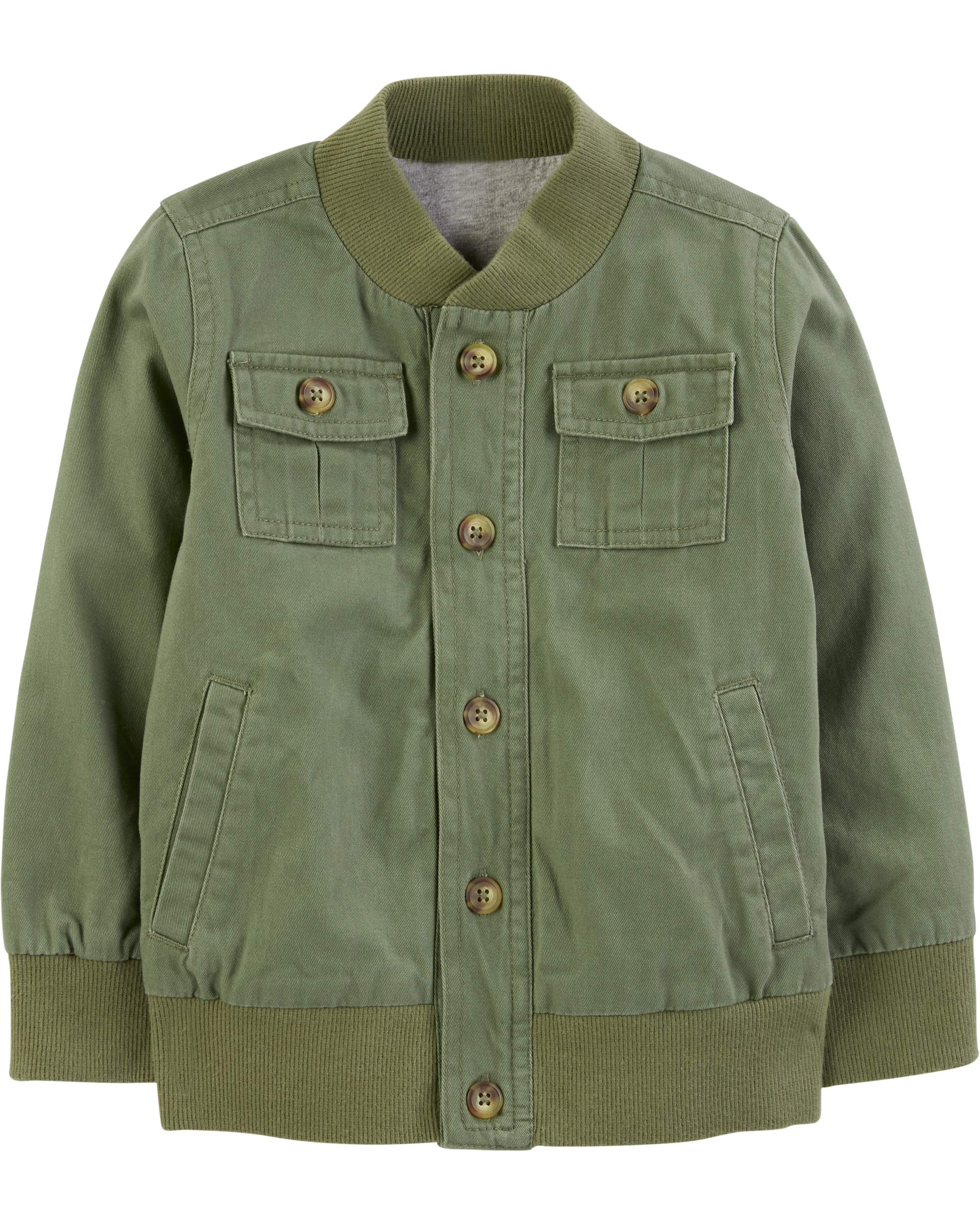 Simple Joys by Carter's Boys' Twill Button up Jacket, Green, 12 Months by Simple Joys by Carter's