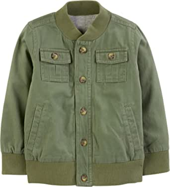 Simple Joys by Carter's Twill Button-Up Jacket Niños