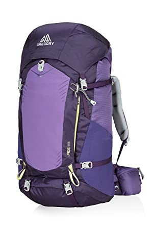 Gregory Mountain Products Jade 53 Liter Women s Multi Day Hiking Backpack Backpacking, Camping, Travel Ventilated Suspension, Raincover, Hydration Compatible Breathable Comfort on the Trail