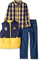 Boys Rock Little Boys' 3 Pc Puffy Vest Set Color Block