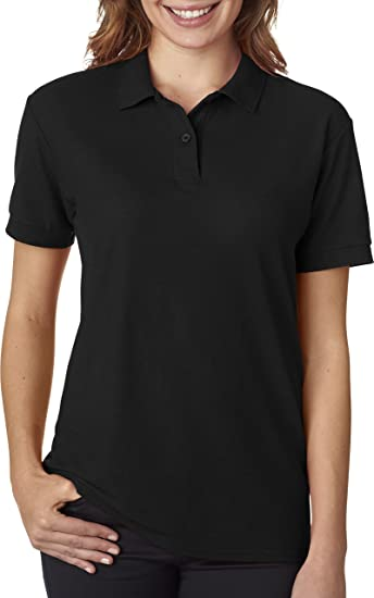 Gildan Womens DryBlend 6.3 oz. Double Piqué Sport Shirt (G728L) -BLACK - c830273cd9