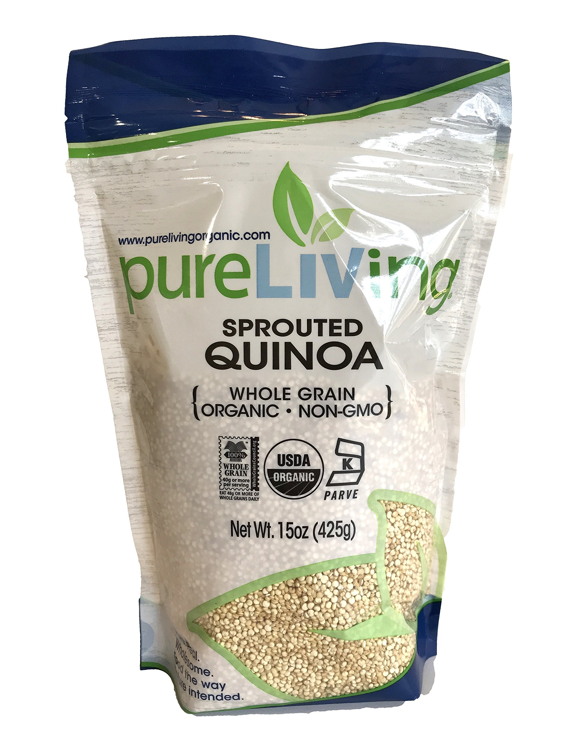 Pure Living - Organic Sprouted Quinoa - 15 Oz