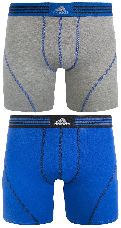adidas Men's Athletic Stretch Cotton Boxer Brief Underwear (2-Pack) Agron Underwear AthStretch2PKBoxerBrief