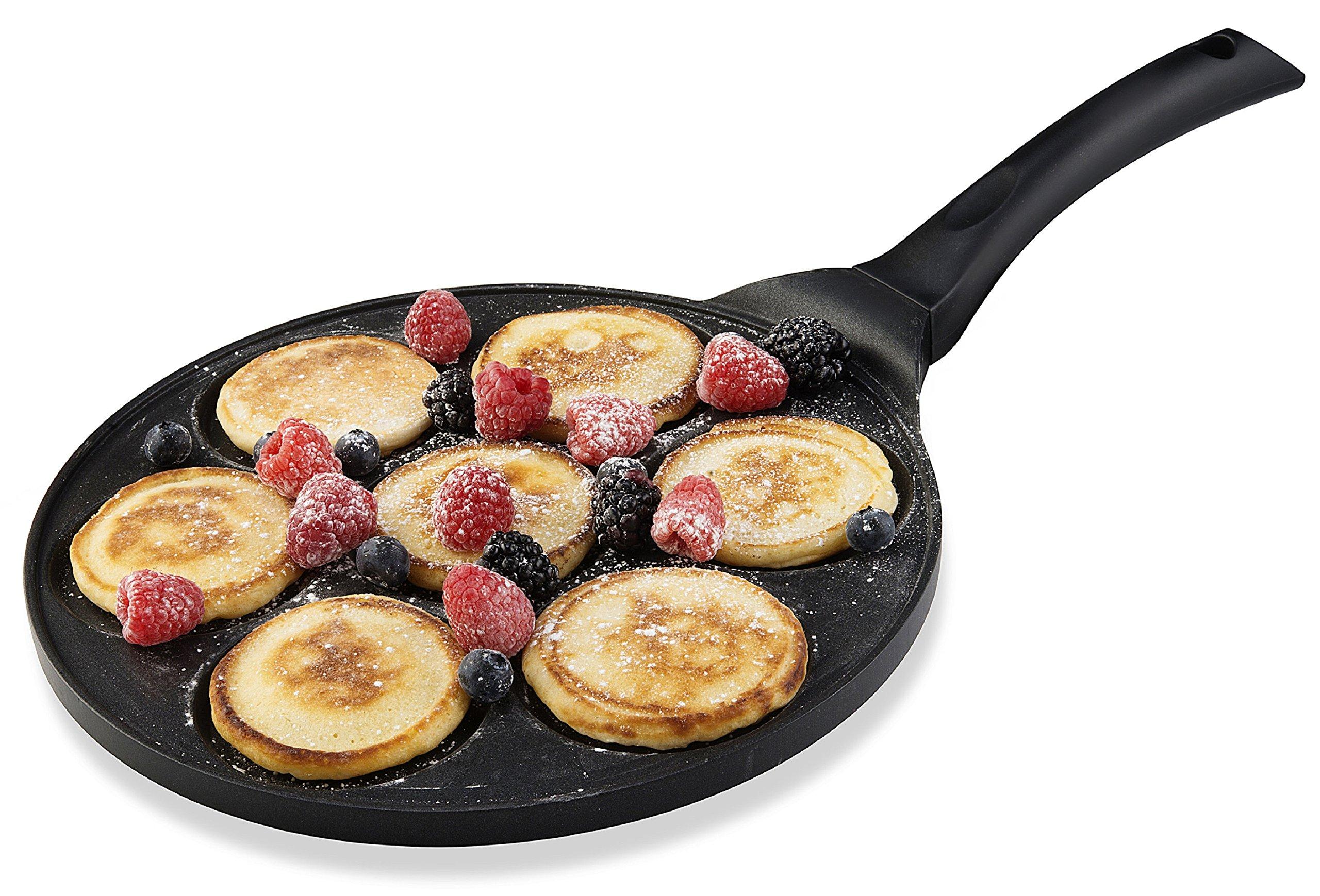 Gourmia GPA9510 Blini Pan Nonstick Silver Dollar Pancake Pan With 7-Mold Design 100% PFOA free non-stick coating