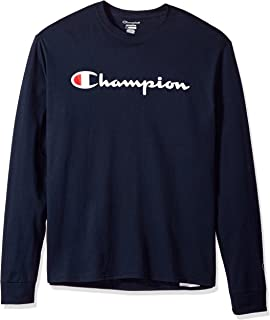 f54530ab Champion Men's Classic Jersey Long Sleeve Graphic T-Shirt at Amazon ...