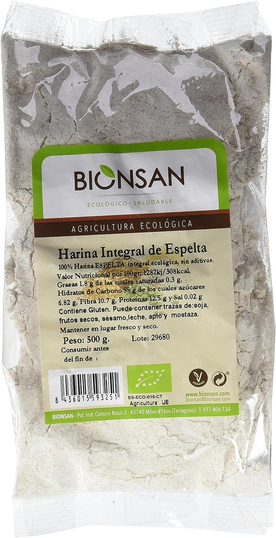 Bionsan Harina de Trigo Espelta Integral Ecológica - 6 Bolsas de 500 gr - Total: 3000 gr