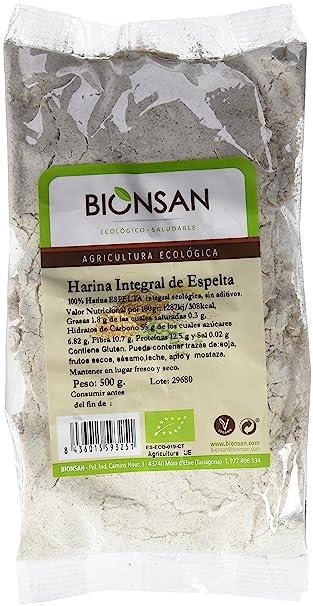 Bionsan Harina de Trigo Espelta Integral Ecológica - 6 Bolsas de ...