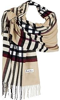 Ornella Venturi Foulard Etole pour femme écharpe à carreaux en damier doux  et chaud comme du cd65cd5d723