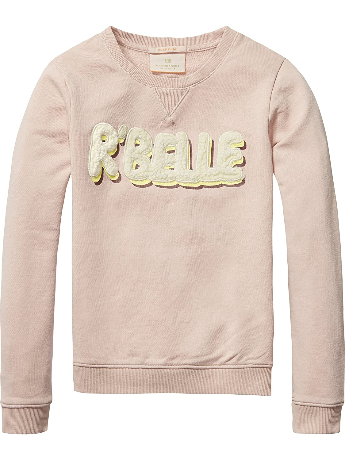 Scotch R'Belle Mädchen Sweatshirt Crew Neck Sweat with Logo Artworks