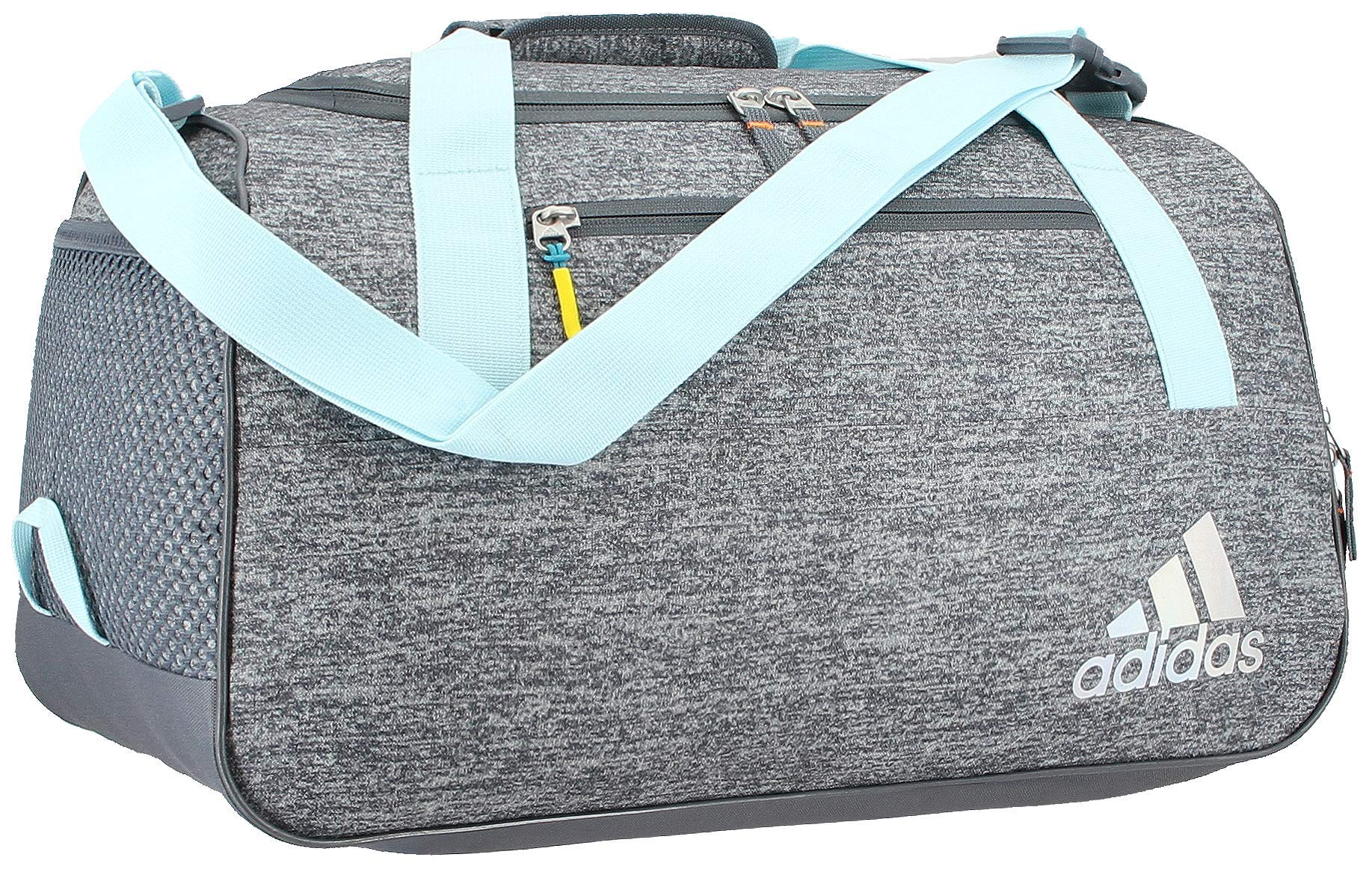 adidas Women's Squad Duffel Bag, Jersey Onix/Clear Aqua/Onix/Sun Glow, ONE SIZE by adidas