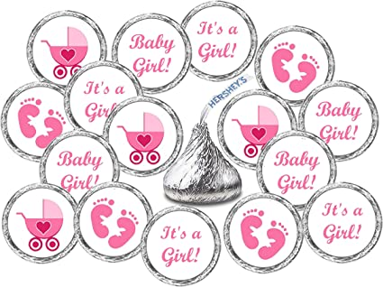 18 Baby Shower Labels It/'s a Girl Labels Baby Shower for Girl It/'s a Girl Tags Baby Shower Favor Labels It/'s a Girl Baby Shower Party Tags