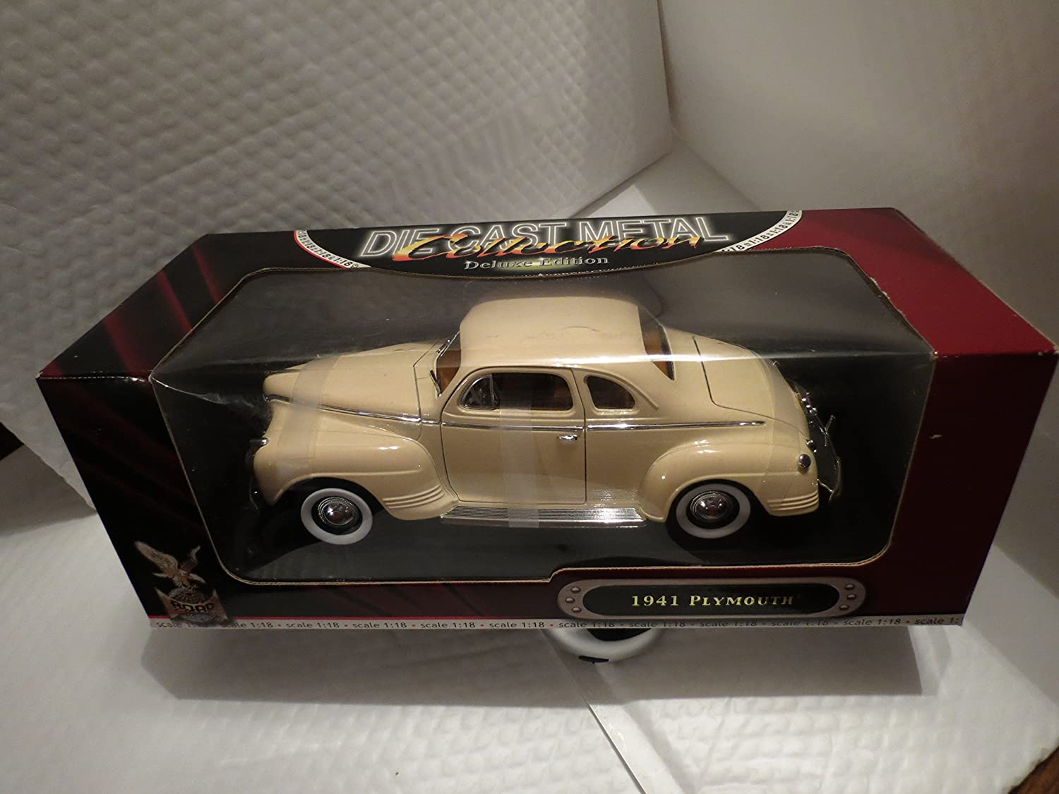 1941 Plymouth Special Deluxe Diecast Metal Car In 118 2 Door Sedan Scale Toys Games