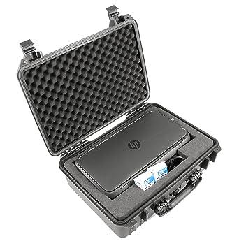 casematix impermeable portátil caso para impresora HP Officejet ...