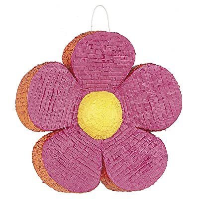Pink Daisy Flower Pinata: Childrens Pinatas: Kitchen & Dining