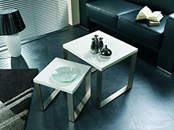 Outdoor Küche Edelstahl Optik : Beistelltisch stahl edelstahloptik ablage mdf hochglanz weiß lack