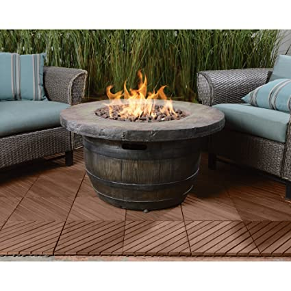 Outdoor Propane Fire Pit.Amazon Com Vineyard Propane Fire Pit 34 65in Dia X 18in