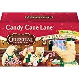 Celestial Seasonings Candy Cane Lane Holiday Decaf Green Tea, 20-Count (Pack of 6)