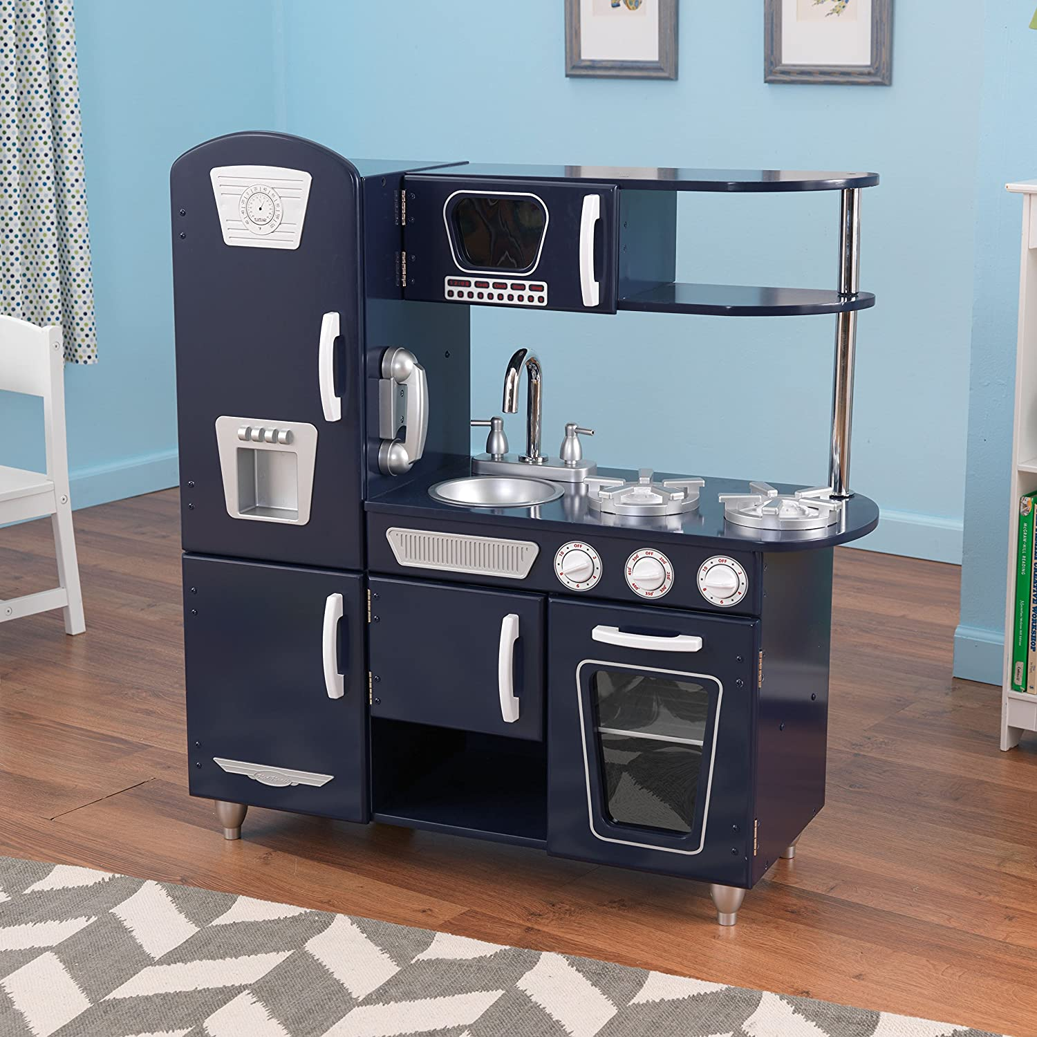 Amazon.com: KidKraft Navy Vintage Kitchen Toy: Toys & Games