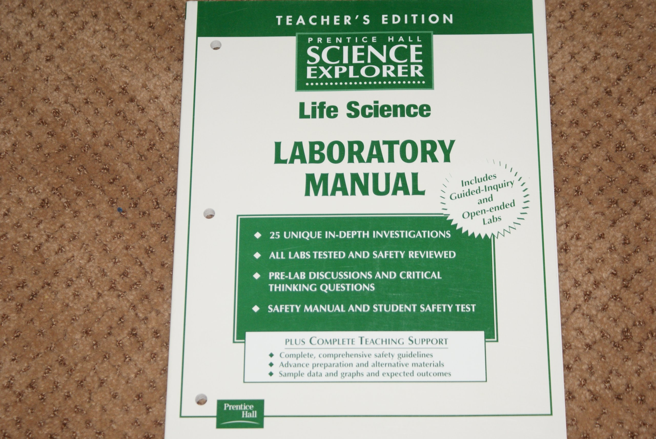 Prentice Hall Science Explorer Life Science Laboratory Manual: Prentice Hall:  9780130439949: Amazon.com: Books