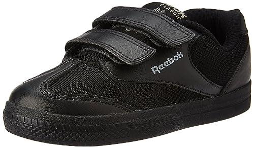 1937c5b3a Reebok Boy s Class Buddy Black and Flat Grey Sneakers - 10.5 C UK India (