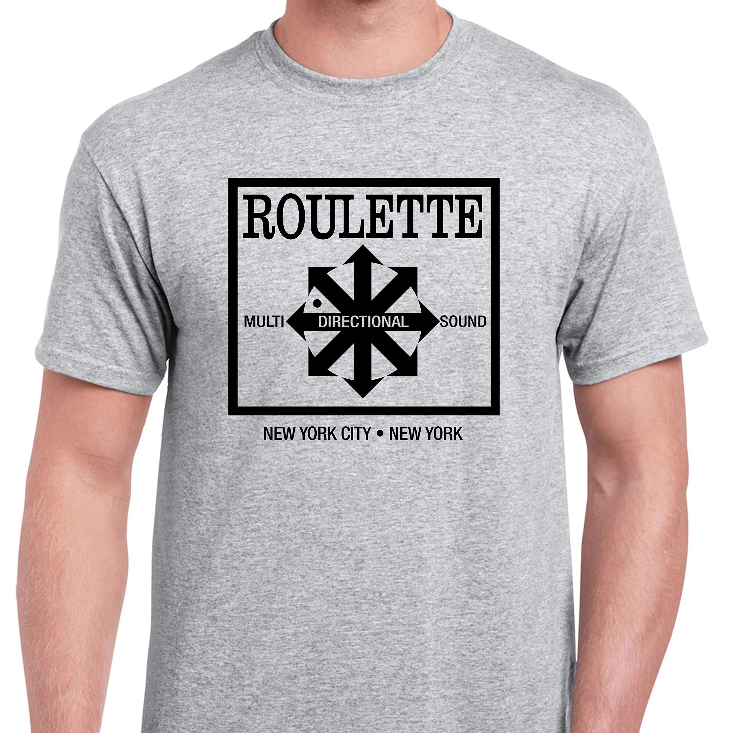 Dark Vortex Roulette Records Grey Version Defunct Record Label Shirts