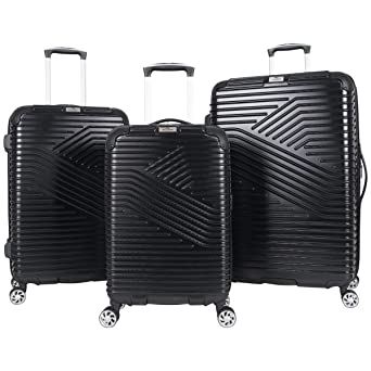 a7a2eda72a14 Ben Sherman Bangor 3-Piece Lightweight Hardside PET 8-Wheel Spinner  Expandable Luggage Set; 20