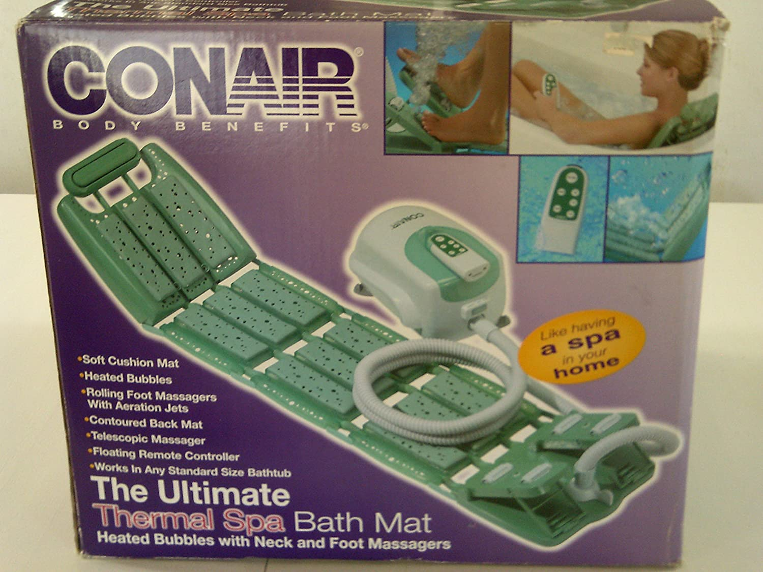 Amazon.com: Conair Body Benefits The Ultimate Thermal Spa Bath Mat ...