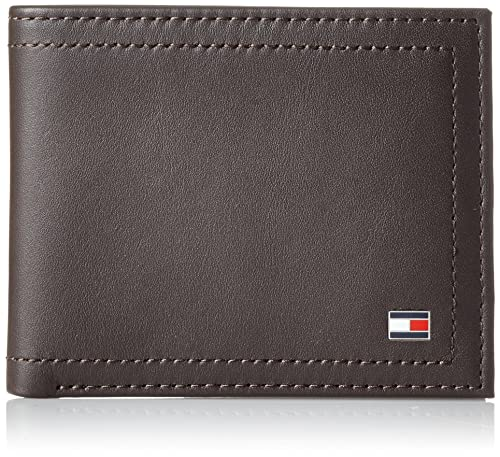 Tommy Hilfiger Harry Mini CC Wallet, Bolsa y Cartera para Hombre, Marrón (Coffee