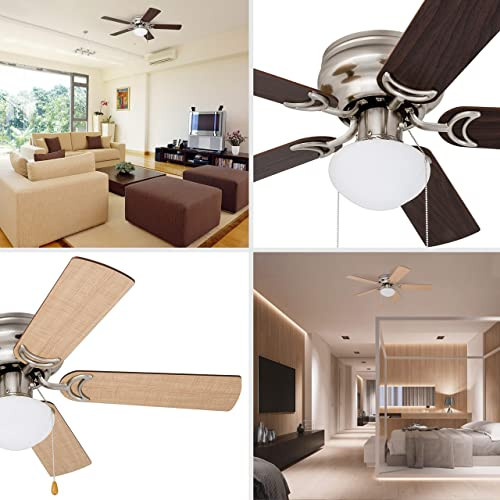 Prominence Home 80029-01 Alvina Led Globe Light Hugger/Low Profile Ceiling Fan