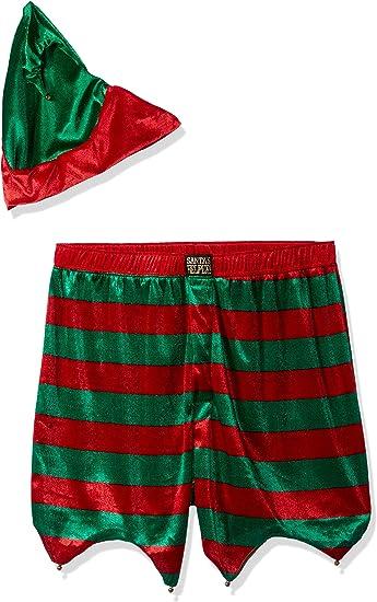 Mens Christmas Shorts /& Hat Costume