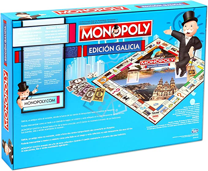 Winning Moves Monopoly Galicia (10223), multicolor, 40 x 27 cm (ELEVEN FORCE: Amazon.es: Juguetes y juegos
