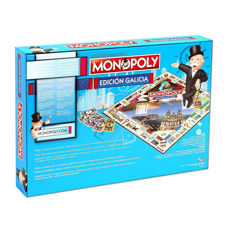 Monopoly Galicia. Juego de Mesa - Versión bilingüe en castellano y gallego.
