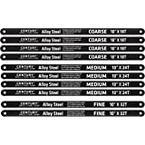 Century Drill and Tool 4310 High Carbon Alloy Steel Hacksaw Blade Set, 10 Piece
